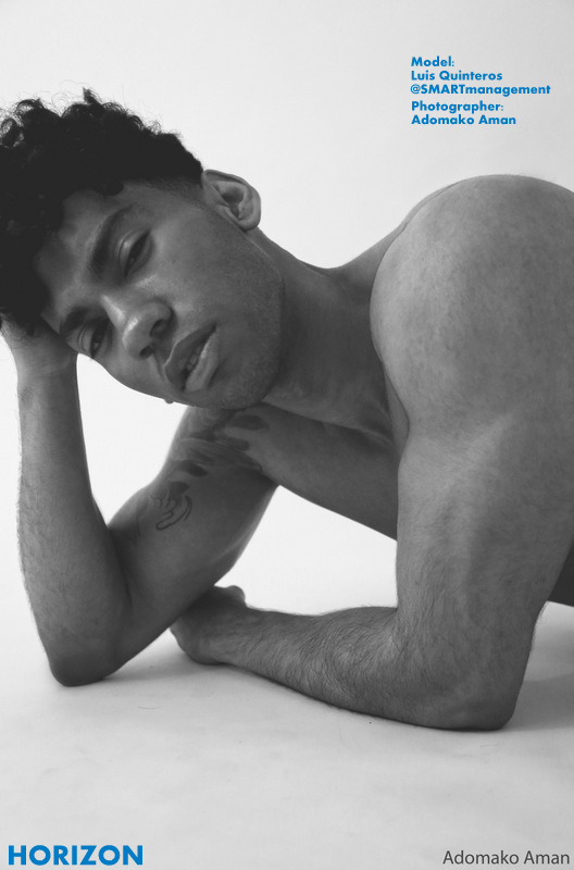 Luis side profile (black and white)#